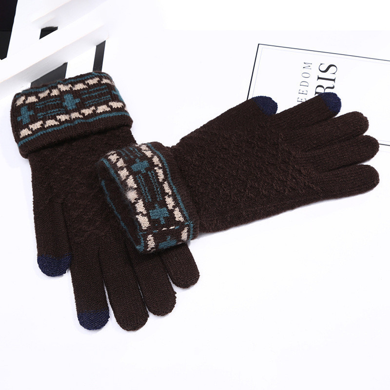 Зимние перчатки женские с сенсорным пальчиком черные опт