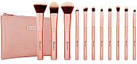 Набор кистей для макияжа BH Cosmetics Metal Rose Brush Set (11 штук)