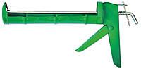 Пистолет для герметика полуоткрытый металлический зубчатый стержень / 12-003, полуоткрытый металлический, зубчатый стержень, фото 1