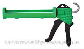 Пистолет для герметика полуоткрытый пластмассовый / 12-018, полуоткрытый пластмассовый