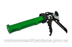 Пистолет для герметика полуоткрытый пластмассовый металлическая ручка / 12-021, полуоткрытый пластмассовый, металлическая ручка