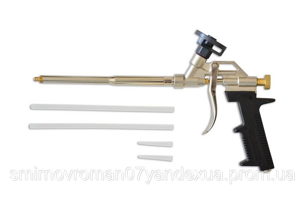 Пистолет для пены металлическая ручка / 12-071, металлическая ручка