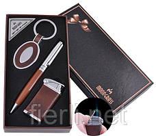 Подарочный набор брелок, ручка, зажигалка (Острое пламя) №AL-608