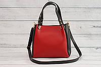 Женская mini сумка, красно-черный цвет, фото 1