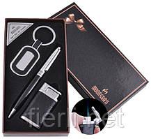 Подарочный набор брелок, ручка, зажигалка (Острое пламя) №AL-609