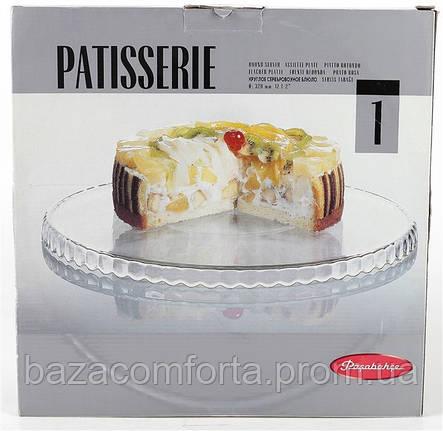 Блюдо Pasabahce Patisserie Ø320мм стеклянное 10345 (бортики вниз), фото 2