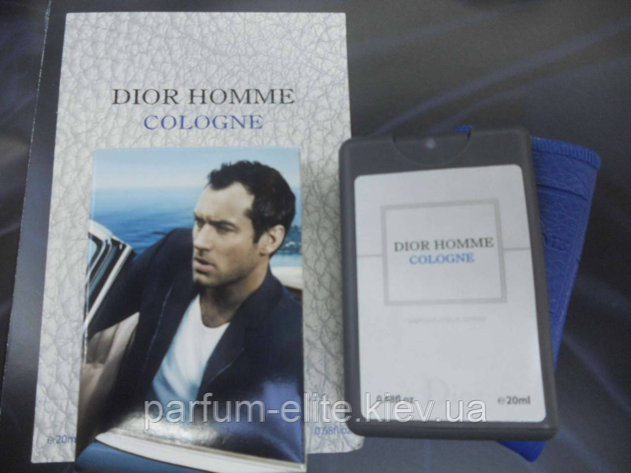 Мужской мини-парфюм в кожаном чехле Christian Dior Dior Homme Cologne 2013 20ml