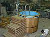 Купель деревянная сборно-разборная с мягким ПВХ вкладышем 130*120см