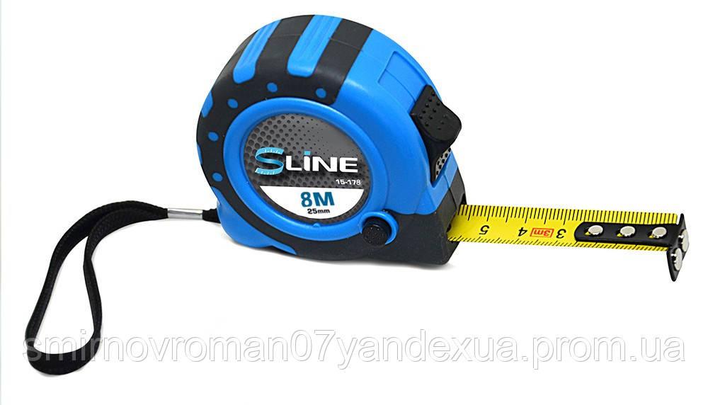 Рулетка измерительная с магнитом, 3 функции, 8м/25мм / 15-178, 8 м/25 мм