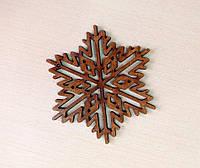 Новорічні прикраси 🎄 Дерев'яна яна сніжинка