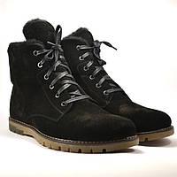Большой размер замшевые ботинки мужские зимние черные Rosso Avangard BS Whisper Vel Black Med, фото 1