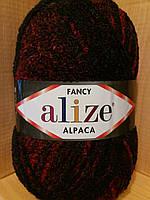 Фантазийная пряжа Alize RAINBOW (350 г/875 м, 15%-альпака, 15%-шерсть, 10%-полиэстер, 60%-акрил) 1008
