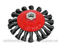 Щетка крацовка круговая закрученная, 100мм / 18-210, 100 мм