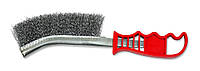 Щетка по металлу стальнаялатунированная, внутренний сгиб, 1 ряд / 18-016, 1 ряд, внутренний сгиб, латунированная проволока