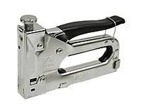 Степлер отделочный металлический, резиновая накладка (скобы 11,3х4-14мм) / 24-027, скобы 11,3 х4 -14 мм