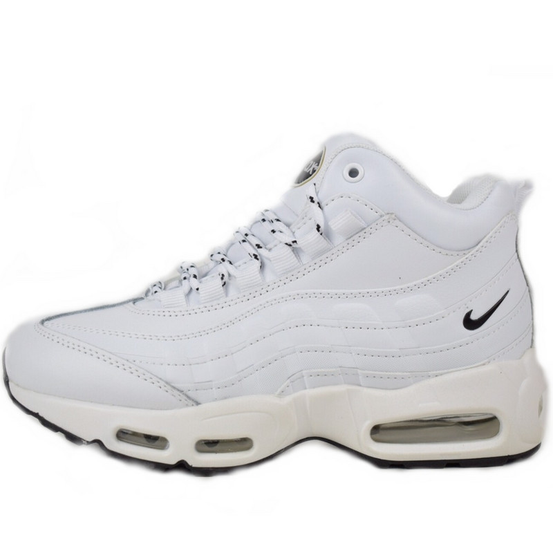 cac0f3d1 Кроссовки Женские Nike Air Max Sneakerboots 95 (белые) Top Replic ...
