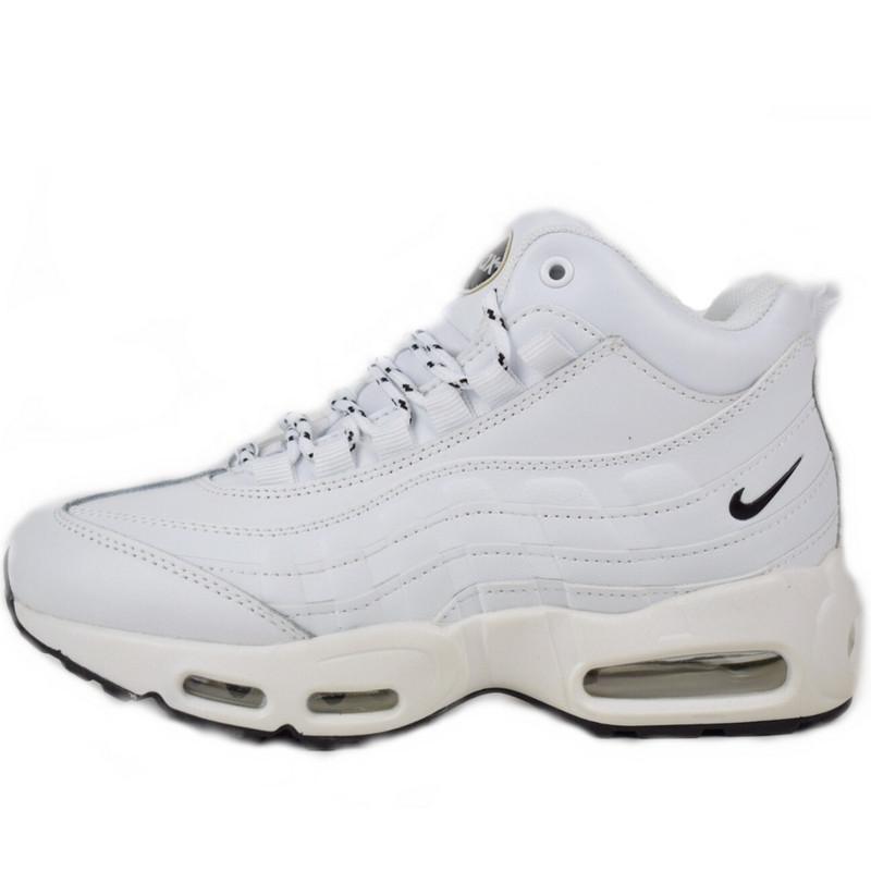 9e373aea Кроссовки Женские Nike Air Max Sneakerboots 95 (белые) Top Replic ...
