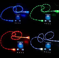 MicroUSB дата кабель Samsung S3 S4 HTC, светящийся