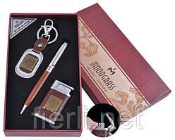 Подарочный набор брелок, ручка, зажигалка Jack Daniel's (Острое пламя) №ST-5623B