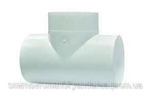 Тройник Т-образный для круглых каналов, d=100мм / 60-188, D 100 мм (10ТП)