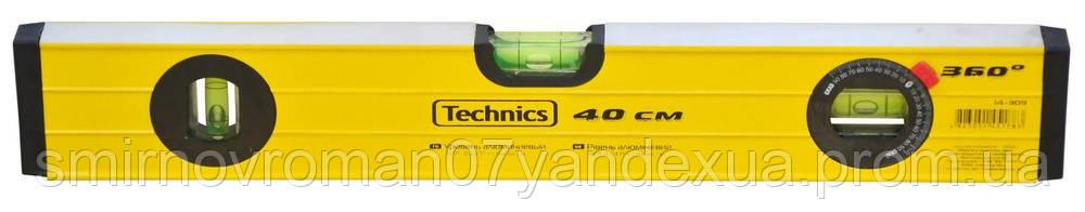 Уровень алюминиевый, 3 глазка, 360 °, 40см / 14-309, 40 см