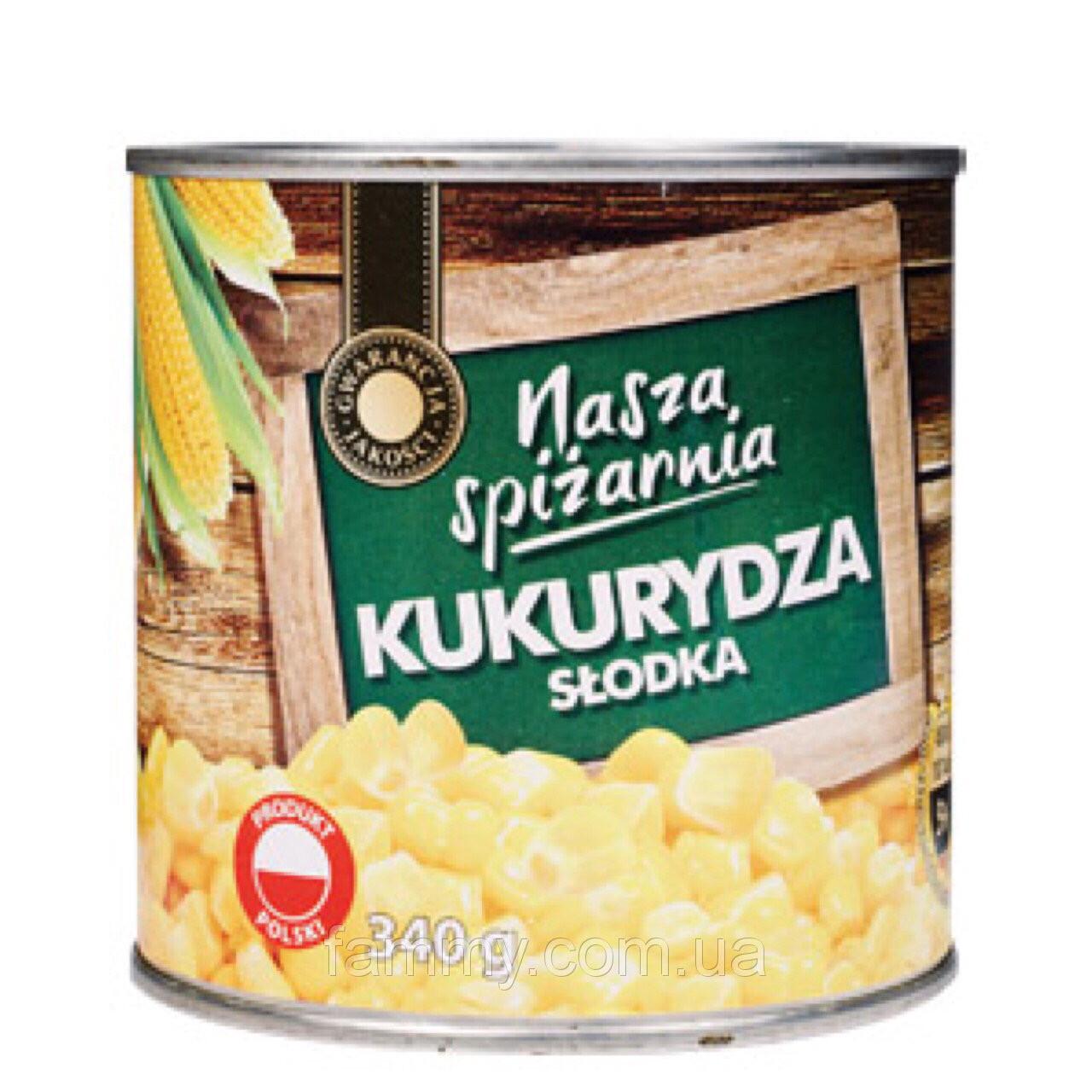 Консервированная кукуруза Nasza Spizarnia 340 г