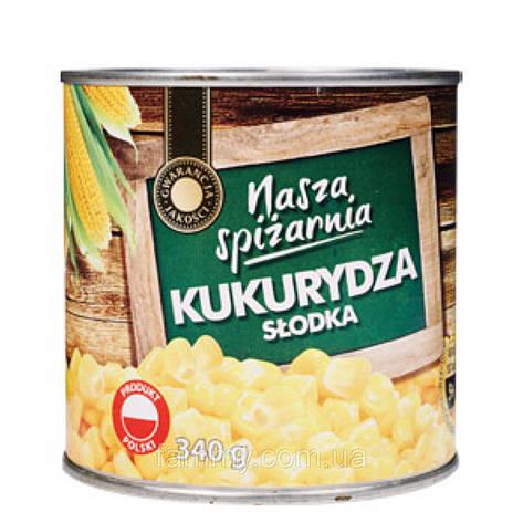 Консервированная кукуруза Nasza Spizarnia 340 г, фото 2