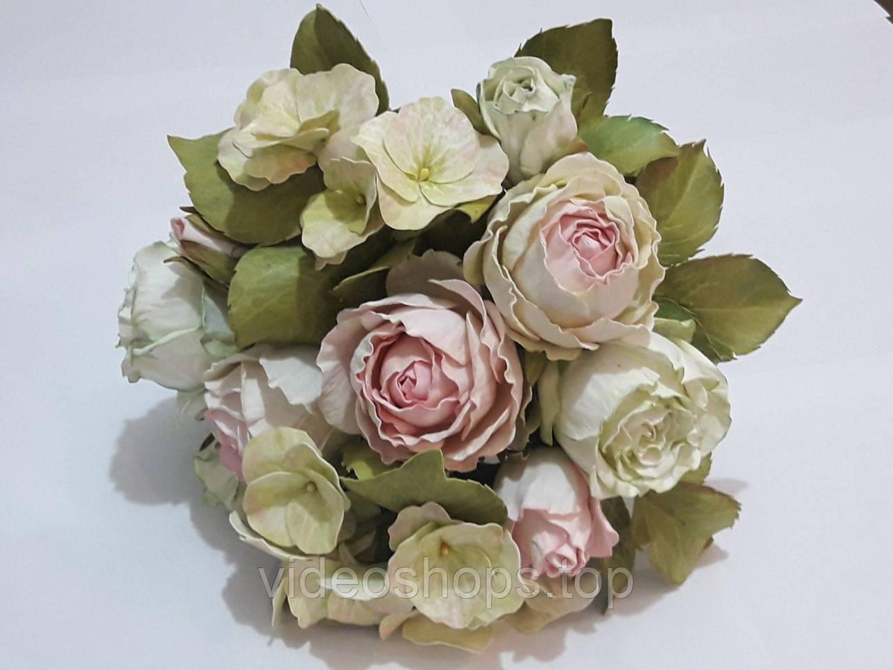 """Свадебный букет """"Нежность"""" (ручная работа) из фоамирана"""