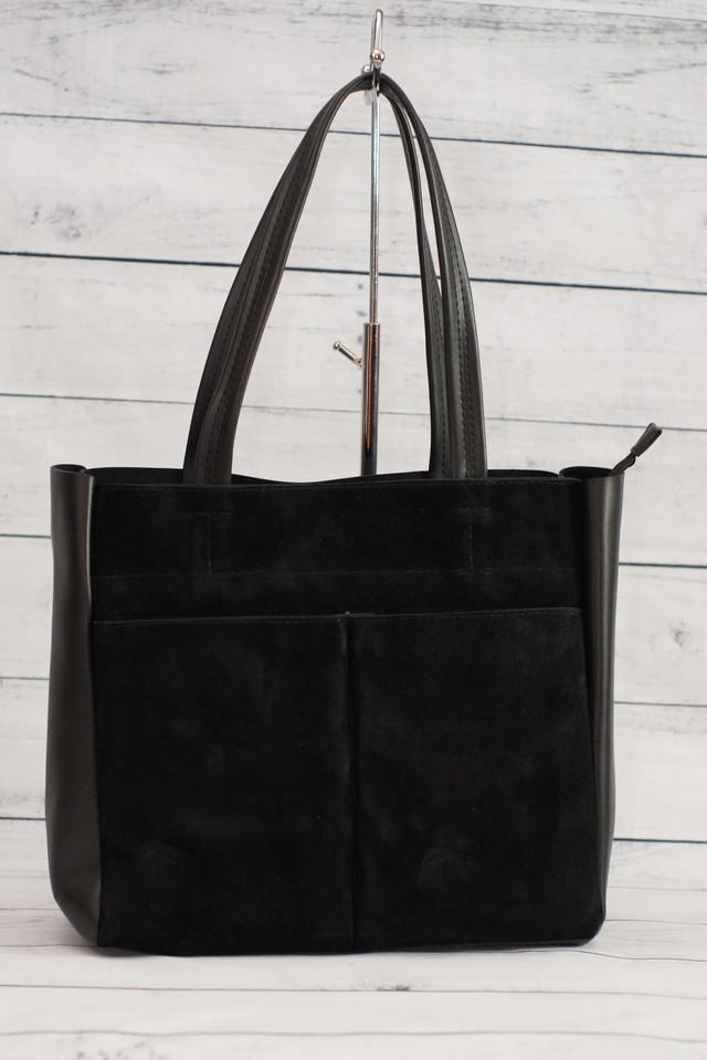 Женская стильная замшевая сумка