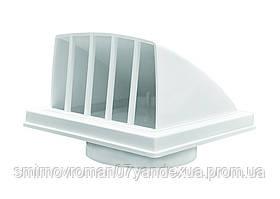 Выход стенной, вытяжной, с обратн. клапаном, с флан., ABS, d=100мм, 150х150мм / 60-225, D 100 мм, 150х150 мм (1515К10ФВ)