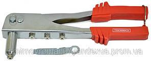 Заклёпочник хромированный / 24-503, 4 сменные головки ( 2,4-4,8 мм)