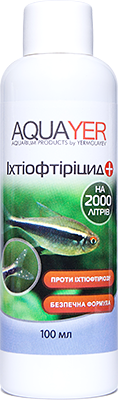 Лечение болезней рыб Ихтиофтирицид 100мл, заболеваний, против паразитов,AQUAYER
