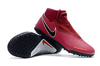 Футбольные сороконожки Nike Phantom Vision Academy DF TF Team Red/Metallic Dark Grey/Bright Crimson, фото 1