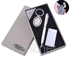 Подарочный набор брелок, ручка, зажигалка UKRAINE (Острое пламя) №AL-111