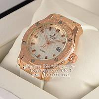 Женские наручные часы Hublot Classic Fusion Gold White Хублот качество премиум реплика, фото 1