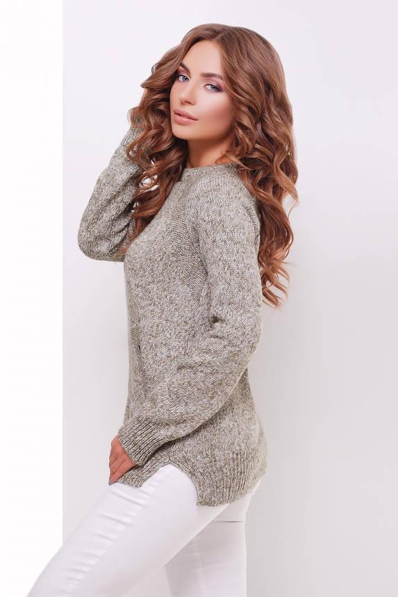 Женский вязаный свитер бежевый, фото 2