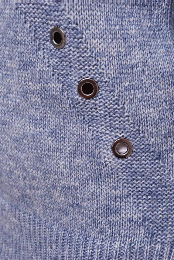Женский вязаный свитер голубой, фото 2