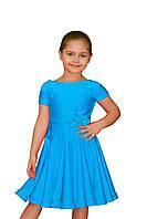 Рейтинговые платья для девочек танцевальное голубое
