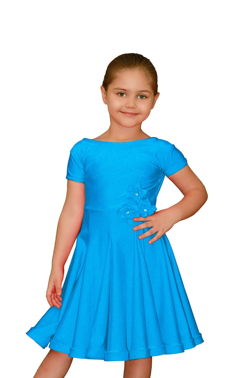 eb5669e8a27 Рейтинговые платья для девочек танцевальное голубое  продажа