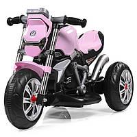 Мотоцикл M 3639-8 1мотор25W, аккум6V4, 5A, 3колеса, MP3, USB, SD, cвет, подст.для ног, розовый