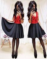 Стильное женское роскошное платье с пышной юбкой