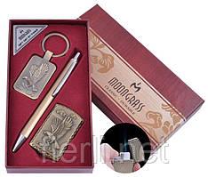 Подарочный набор брелок, ручка, зажигалка Орел (Острое пламя) №ST-5743