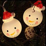 """Новорічна світлодіодна гірлянда """"Сніговички"""" 10 LED на батарейках , фото 3"""