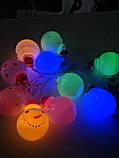 """Новорічна світлодіодна гірлянда """"Сніговички"""" 10 LED на батарейках , фото 6"""