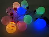 """Новорічна світлодіодна гірлянда """"Сніговички"""" 10 LED на батарейках , фото 8"""