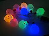"""Новорічна світлодіодна гірлянда """"Сніговички"""" 10 LED на батарейках , фото 9"""