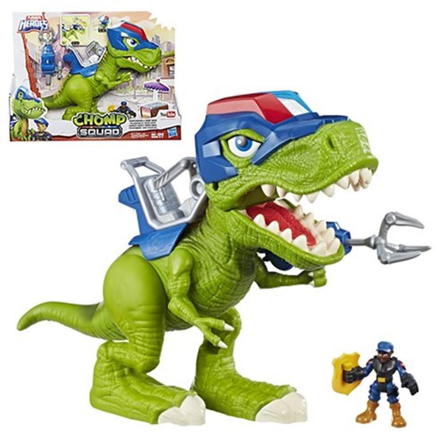 Интерактивный динозавр Чомп Полицейский, свет, звук  Playskool Heroes Chomp Squad, Hasbro, Оригинал из США