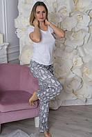 Пижама хлопковая П101 Елочки белые