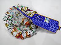 Шоколадные новогодние конфеты Only Снеговики в сеточке 100г