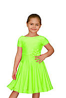 Рейтинговое платье для девочек танцевальное салатовое